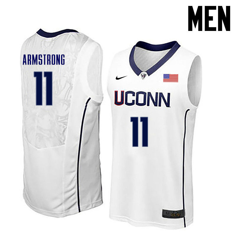 Men Uconn Huskies #11 Hilton Armstrong College Basketball Jerseys-White